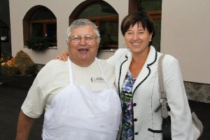 Chef Peter Kotar and Ljudmila Novak (member of Slovenian Parlament)