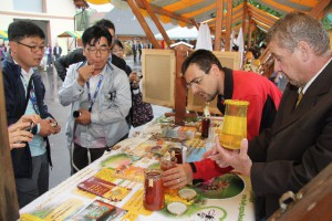 Colleagues from China discussing Slovenian buckwheat honey