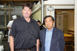 His Excellency Mr. Toshimitsu Ishigure, Ambassador of Japan, with Mr. Rangus